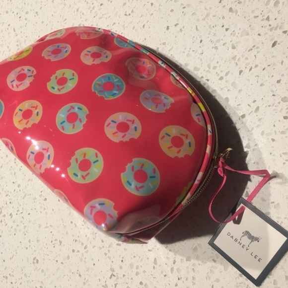 """29dfe3d6bd46 8""""x 5""""x4"""" DABNEY LEE donut cosmetic makeup bag NEW NWT"""